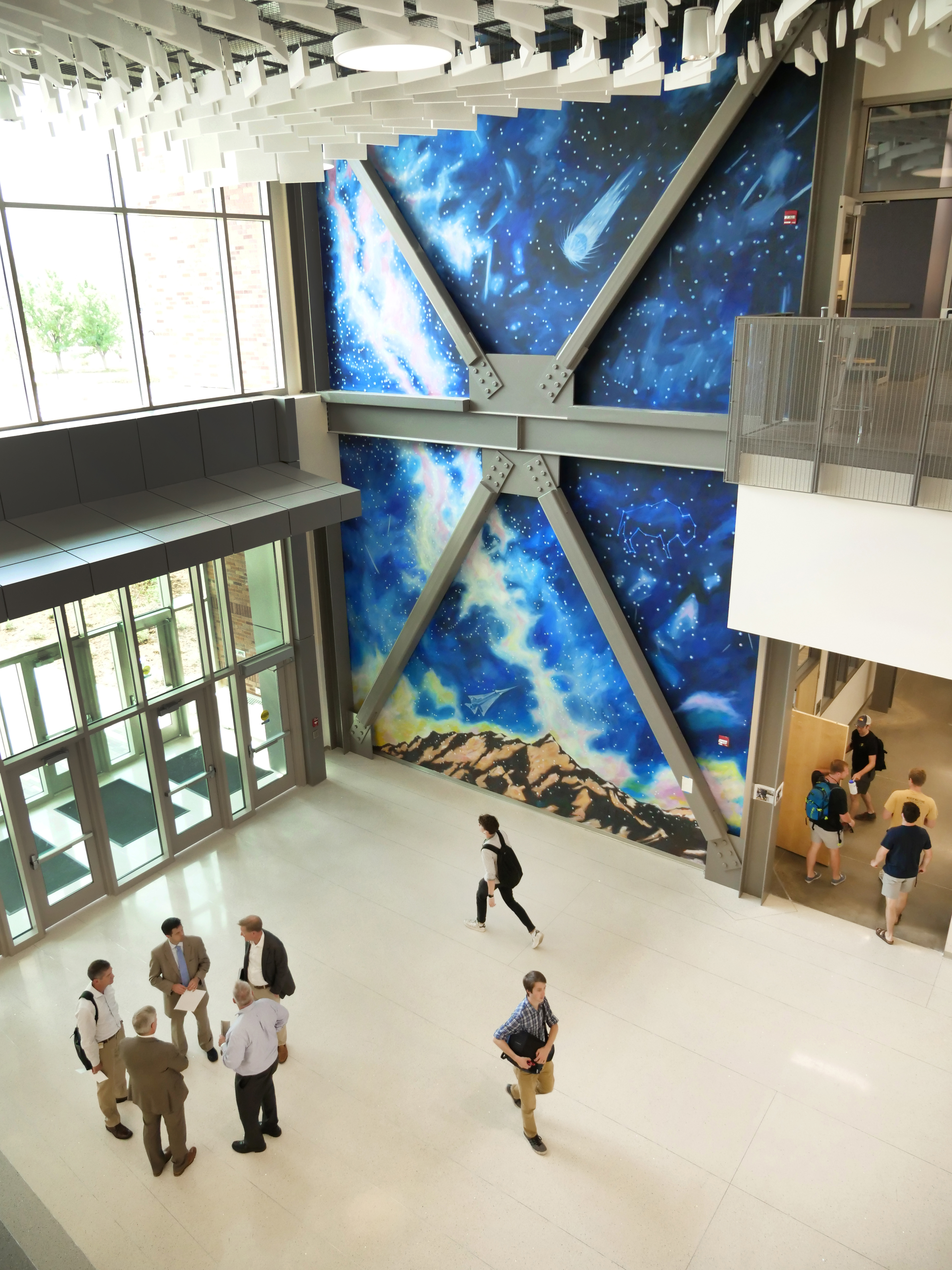 Bumiller mural, Aerospace Engineering Sciences building at CU Boulder