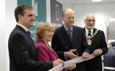 Source BioScience CEO Dr Nick Ash, Mayoress Coun Cecile Biant, legendary explorer Sir Ranulph Fiennes, and Mayor Coun Surinder Biant