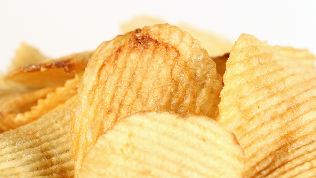 potato chips with ruffles