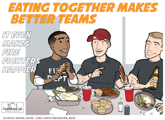 eating together makes better teams