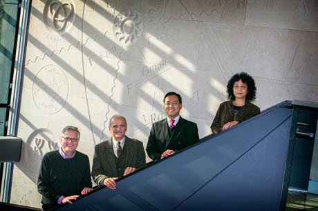 Pictured, from left: Scott Powers, Yusuf Hannun, Song Wu and Wei Zhu