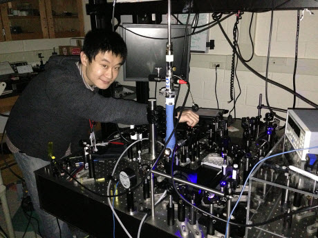 Haining Wang in his lab