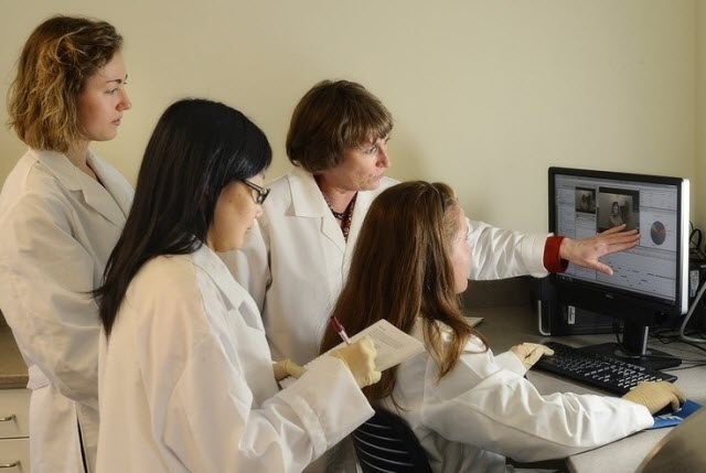 researchers in the Virginia Tech Sensory Evaluation Laboratory