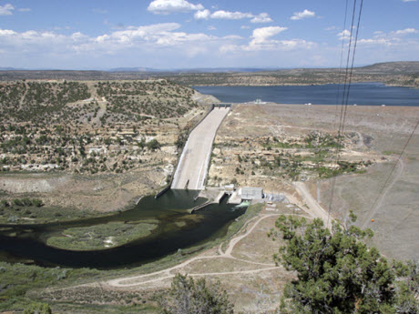The San Juan River's Navajo Dam and reservoir
