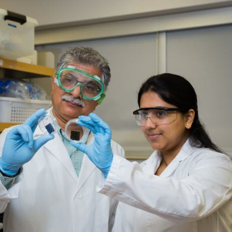 Dairy science professor Sanjeev Anand, left, and graduate student Shivali Jindal