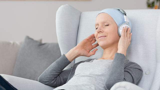 patient listening to music