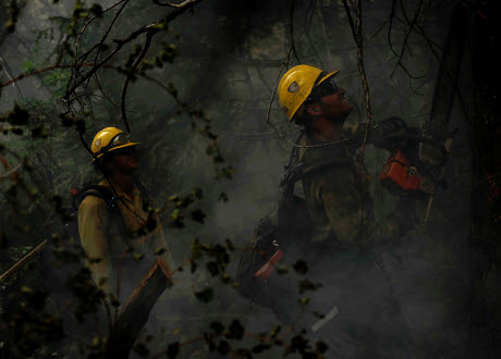 wildfire fighters