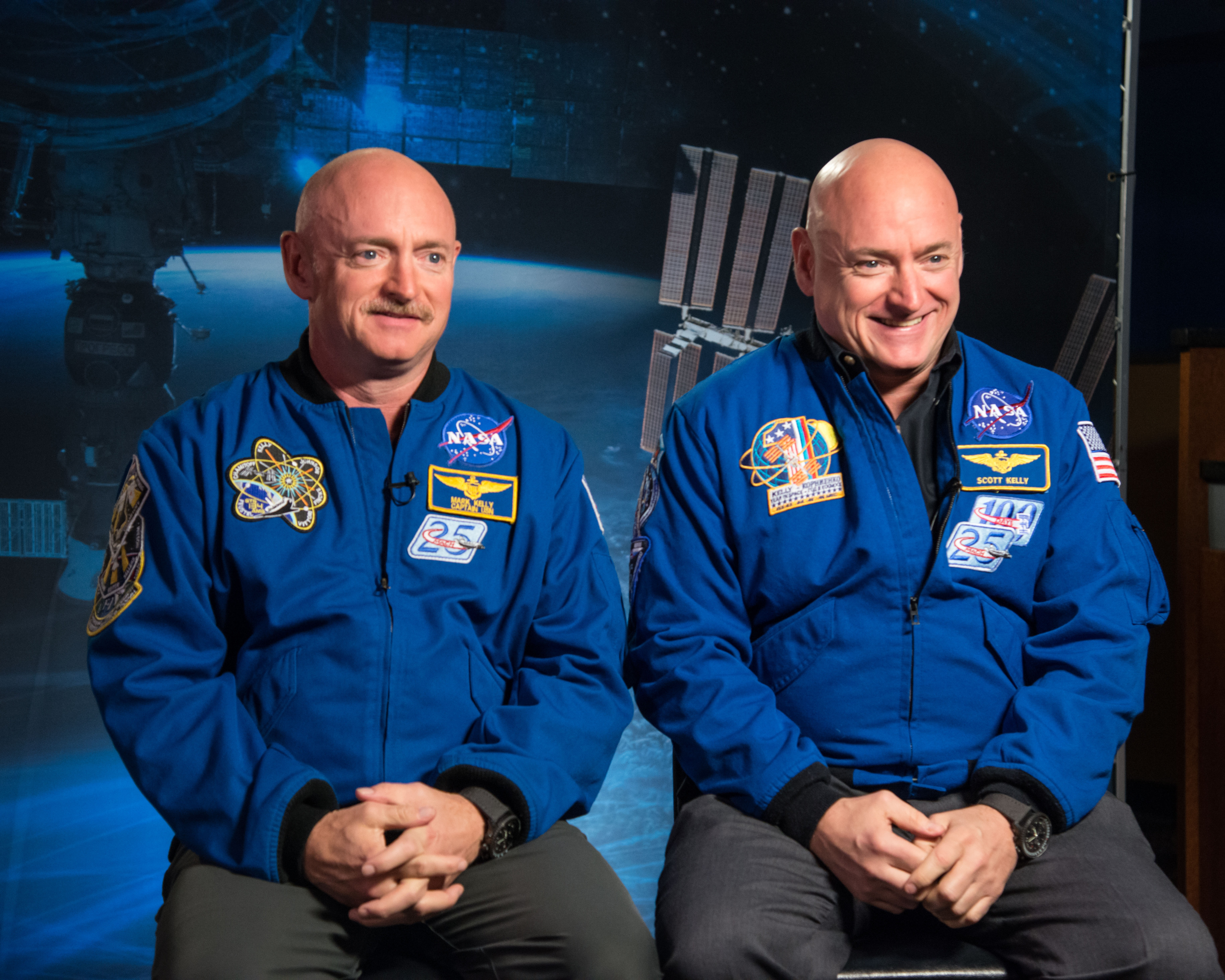 Identical twin astronauts, Scott and Mark Kelly