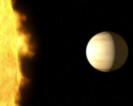 Wasp-39b and Its Parent Star (Artist's Impression)