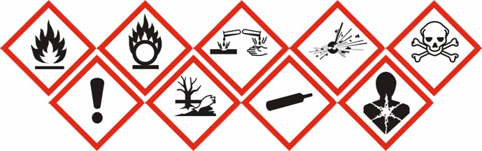 lab hazard signs