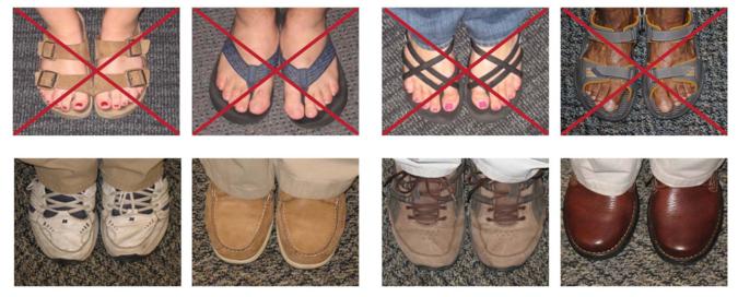 Appropriate Footwear in the Lab