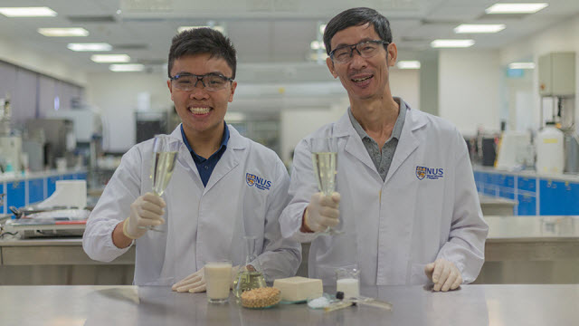 Associate Professor Liu Shao Quan and PhD student Mr. Chua Jian Yong