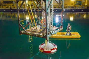 The largest model-scale wave energy testing of its kind is being performed by Sandia National Laboratories
