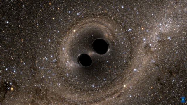 collision of two black holes holes
