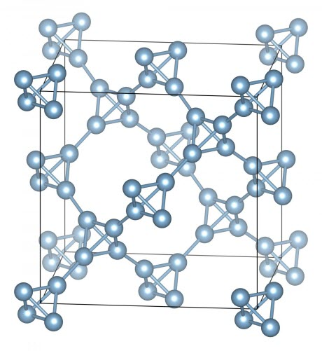 Schematic Depiction of Supertetrahedral Aluminum Crystal Structure