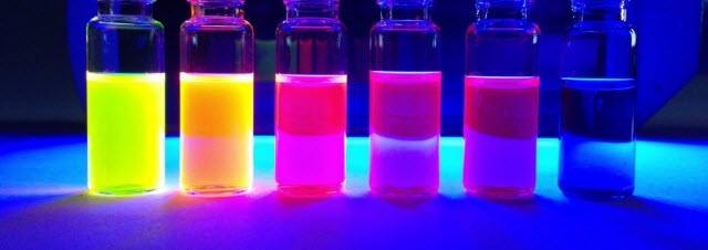 Dyes Under UV light
