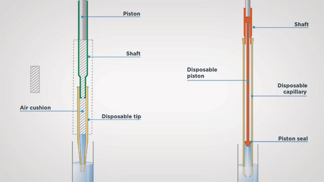 how positive displacement pipettes work