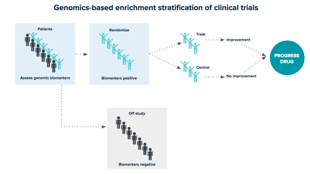 genomics-based enrichment stratification of clinical trials