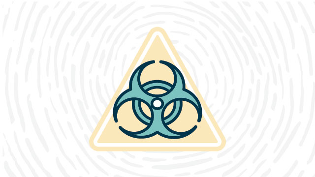 Biohazard lab safety symbol