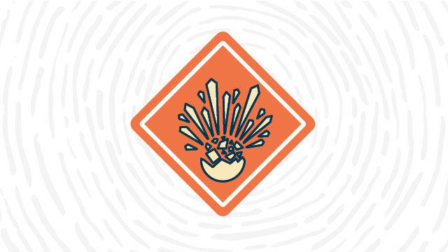 Explosive hazard lab safety symbol