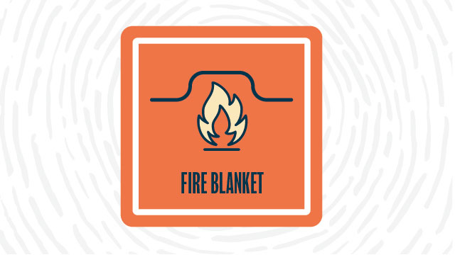 Fire blanket lab safety symbol