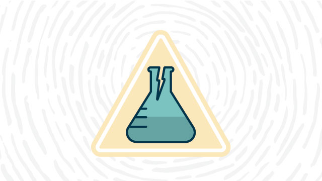Glassware hazard lab safety symbol