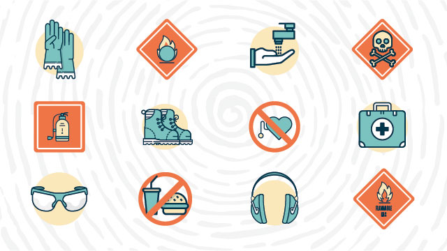 Science Laboratory Safety Symbols And Hazard Signs Meanings Lab
