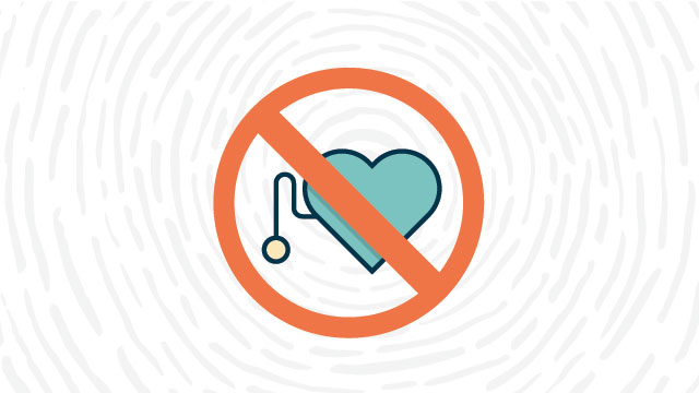 No pacemakers or metallic implants lab safety symbol