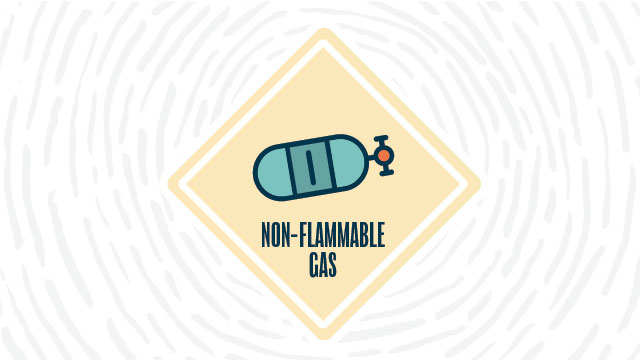 Non-flammable gas lab safety symbol