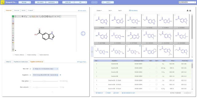 Dotmatics Chemselector
